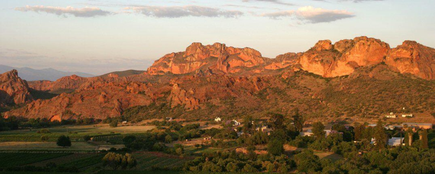 Panoramic View of Red Stone Hills